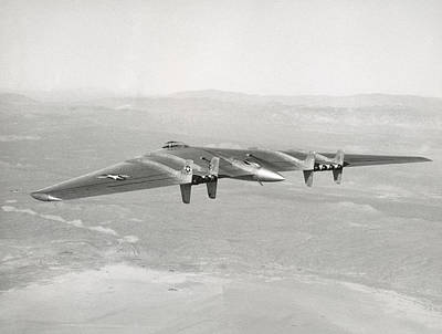 Poster featuring the photograph 1947 Northrop Flying Wing by Historic Image