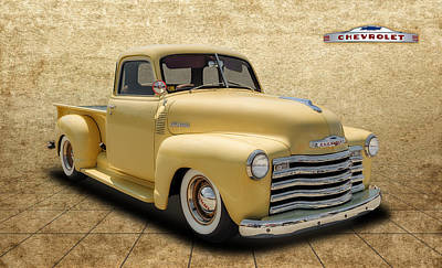 1948 Chevrolet Pickup Poster by Frank J Benz