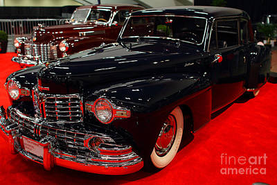1948 Lincoln Continental Coupe . Deep Blue . 7d9256 Poster by Wingsdomain Art and Photography