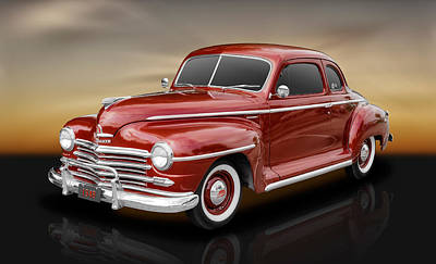 1948 Plymouth Deluxe Coupe Poster by Frank J Benz