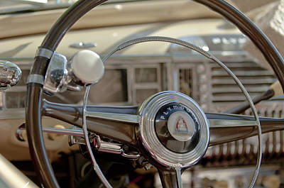 1948 Plymouth Deluxe Steering Wheel Poster by Jill Reger