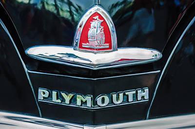 1948 Plymouth Emblem -0388c Poster by Jill Reger