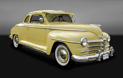 1948 Plymouth Special Deluxe Coupe  -  48plycoupegry9897 Poster by Frank J Benz