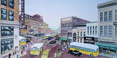 1948 Rush Hour Portsmouth Ohio Poster