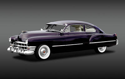 Poster featuring the photograph 1949 Cadillac Two Door Sedan  -  1949caddy2doorsedanfa172173 by Frank J Benz