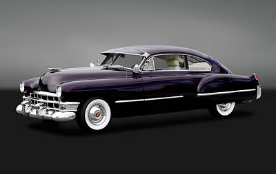 Poster featuring the photograph 1949 Cadillac Two Door Sedan  -  1949caddy2drsedangry172173 by Frank J Benz