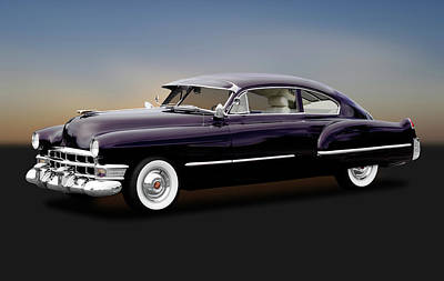 Poster featuring the photograph 1949 Cadillac Two Door Sedan  -  1949cadillacsedan172173 by Frank J Benz
