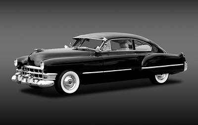 Poster featuring the photograph 1949 Cadillac Two Door Sedan  -  49cadillacsedanbw172173 by Frank J Benz