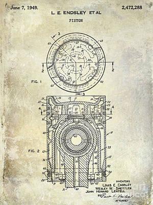1949 Piston Patent Poster by Jon Neidert