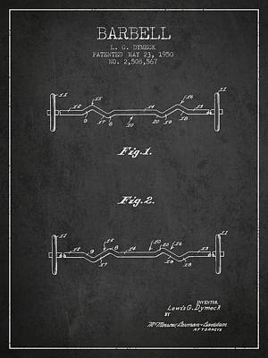 1950 Barbell Patent Spbb04_cg Poster by Aged Pixel