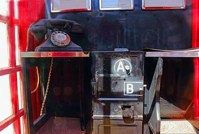 1950 British Telephone Box Poster