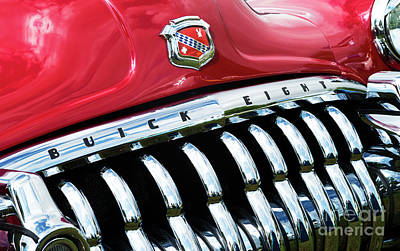 1950 Buick Eight Abstract Poster by Tim Gainey