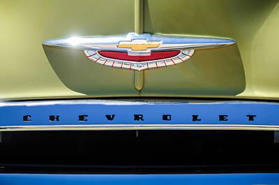 1950 Chevrolet Fleetline Grille Emblem -1431c Poster