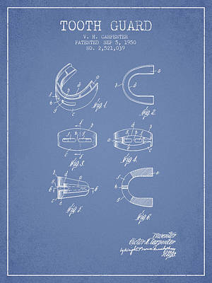 1950 Tooth Guard Patent Spbx16_lb Poster by Aged Pixel