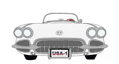 1950's Corvette Poster