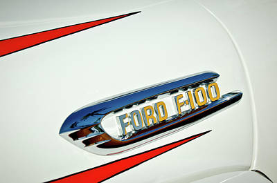 1950's Ford F-100 Fordomatic Pickup Truck Emblem Poster by Jill Reger