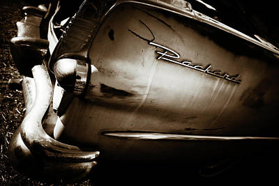 Poster featuring the photograph 1950s Packard Tail by Marilyn Hunt