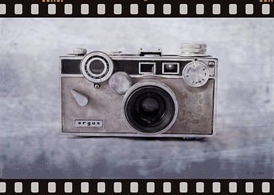 1950's Vintage Argus Camera With Filmstrip Border Poster