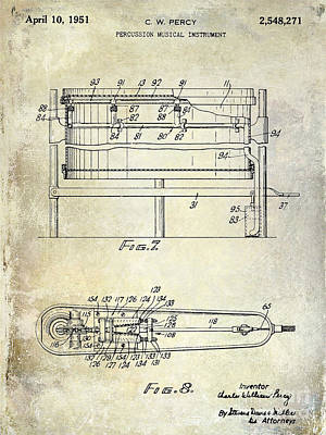 1951 Drum Patent  Poster
