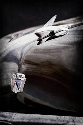 1951 Ford Custom Tudor Sedan Hood Ornament - Emblem -0312ac Poster by Jill Reger