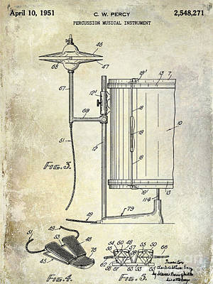 1951 Percussion Patent Poster