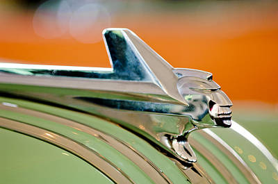 1952 Pontiac Chieftain Hood Ornament Poster by Jill Reger