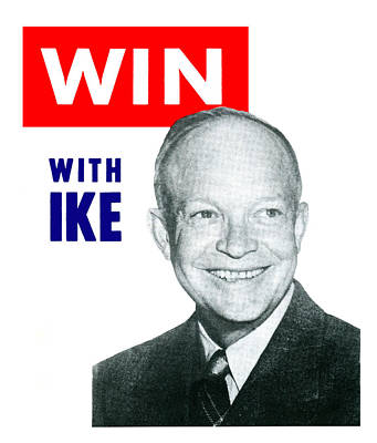 1952 Win With Ike Poster