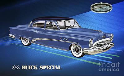 1953 Buick Special 41d Tourback Sedan Poster