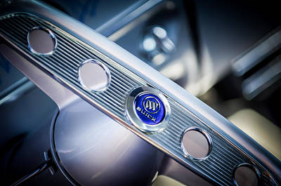 1953 Buick Super Hot Rod Steering Wheel Emblem -0810c Poster by Jill Reger