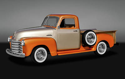 1953 Chevrolet 3100 Series Pickup Truck   -   19533100chevytrkgry170680 Poster