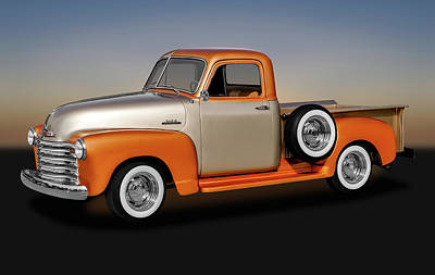 Poster featuring the photograph 1953 Chevrolet 3100 Series Pickup Truck   -   1953chevy3100trk170680 by Frank J Benz