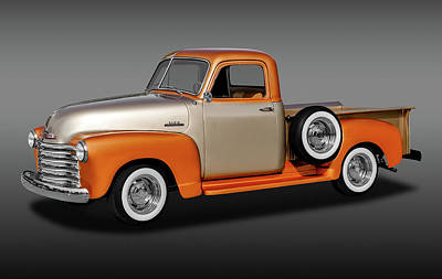 Poster featuring the photograph 1953 Chevrolet 3100 Series Pickup Truck   -   1953chevy3100trkfa170680 by Frank J Benz