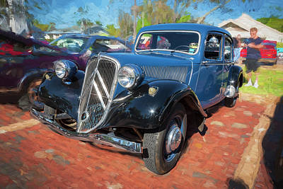 1953 Citroen Traction Avant Poster by Rich Franco