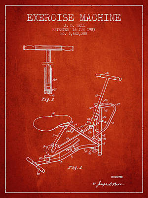 1953 Exercising Device Patent Spbb07_vr Poster by Aged Pixel