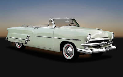 Poster featuring the photograph 1953 Ford Customline Sunliner 2 Door Convertible   -   1953fordcustomlinecv170651 by Frank J Benz