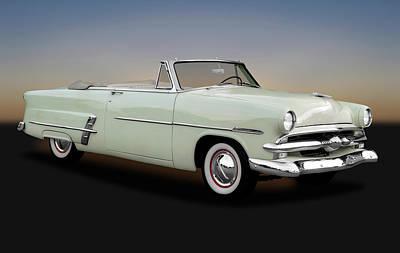 1953 Ford Customline Sunliner 2 Door Convertible   -   1953fordcustomlinecv170651 Poster by Frank J Benz