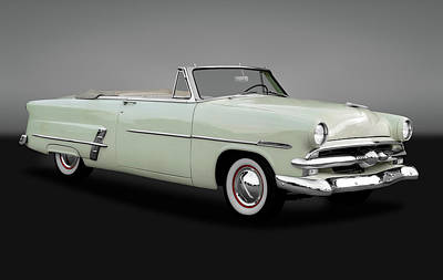1953 Ford Customline Sunliner 2 Door Convertible  -   1953fordcustomsunlinergry170651 Poster by Frank J Benz
