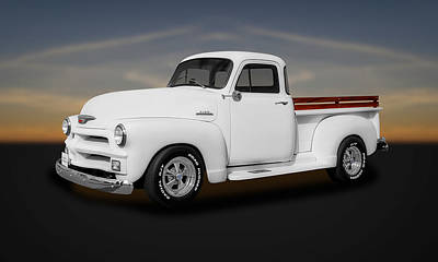 1954 Chevrolet 3100 Series Pickup Truck  -  54chtk66 Poster by Frank J Benz