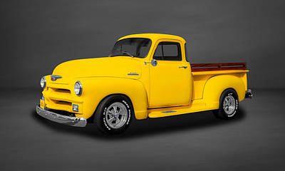 1954 Chevrolet 3100 Series Pickup Truck  -  54chtk88 Poster by Frank J Benz