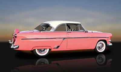 1954 Ford Victoria Crestline V8  -  1954fdvicreflect9358 Poster