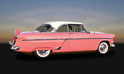 1954 Ford Victoria Crestline V8  -  54fordvic9358 Poster