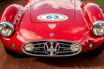 1954 Maserati A6 Gcs Grille -0255c Poster by Jill Reger