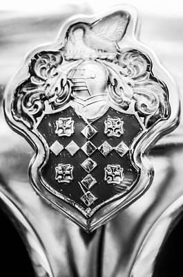 1954 Patrician Packard Emblem -044bw Poster by Jill Reger