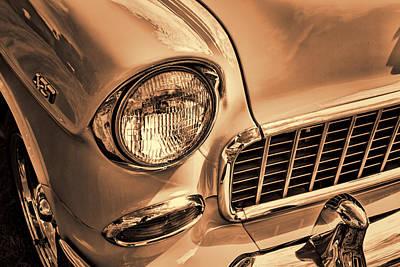 1955 Chevrolet Belair Sepia Poster