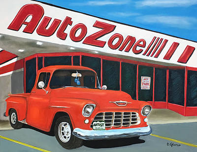 1955 Chevy - Autozone Poster