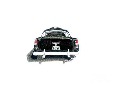 1955 Chevy Bel Air Rear View Poster