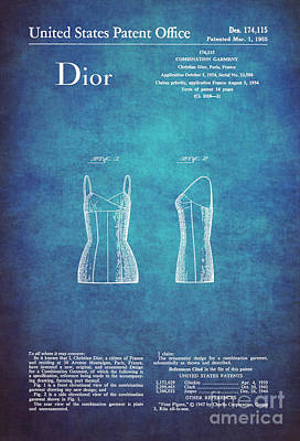 1955 Dior Combination Garment Design 1 Poster by Nishanth Gopinathan