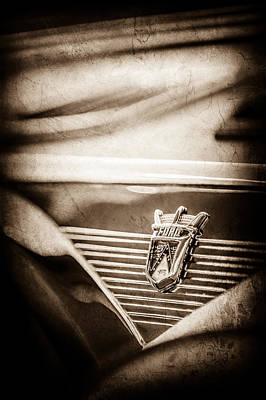 1955 Ford Fairland Crown Victoria Emblem -1608s Poster