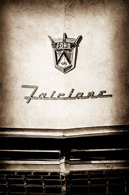 1955 Ford Fairlane Crown Victoria Emblem -1713s Poster