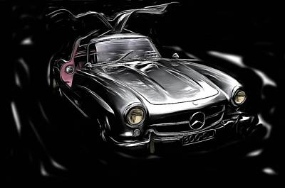 1955 Mercedes Benz Gullwing Poster by Thom Zehrfeld